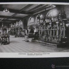 Postales: ANTIQUE POSTCARD ARMSTRONG COLLEGE, NEWCASTLE-UPON-TYNE. ENGINEERING LABORATORY. Lote 50410955