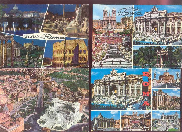 Postales: LOTE 11 POSTALES DE ROMA AÑO 70 SIN CIRCULAR (VER FOTOGRAFIAS ADICIONALES) - Foto 9 - 26686035