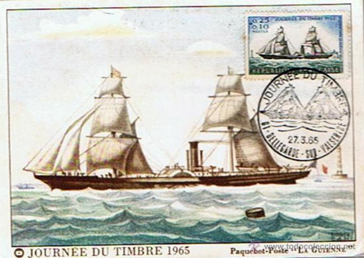 POSTAL PRIMER DÍA JOURNÉE DU TIMBRE 1965 (Postales - Postales Extranjero - Europa)