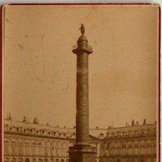 Postales: ANTIGUA Y RARA POSTAL DE PARIS, COLONNE VENDOME, ANC.MAISON MARTINET SOBRE 1880. Lote 51015493