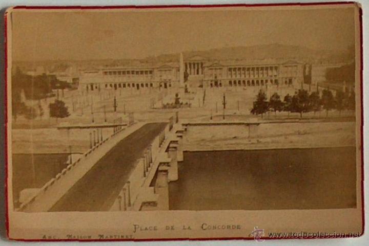 ANTIGUA Y RARA POSTAL DE PARIS, PLACE DE LA COCORDE, ANC. MAISON MARTINET, SOBRE 1880 (Postales - Postales Extranjero - Europa)