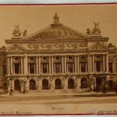 Postales: ANTIGUA Y RARA POSTAL DE PARIS, OPERA, ANC. MAISON MARTINET, SOBRE 1880. Lote 51015590