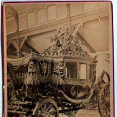 Postales: ANTIGUA Y RARA POSTAL DE PARIS, VOITURE DE GALA, ANC. MAISON MARTINET, SOBRE 1880. Lote 51015610