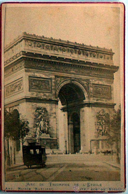 ANTIGUA Y RARA POSTAL DE PARIS, ARC DE TRIOMPHE DE L'ETOILE, ANC. MAISON MARTINET, SOBRE 1880 (Postales - Postales Extranjero - Europa)