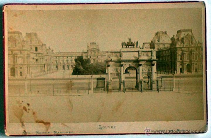 ANTIGUA Y RARA POSTAL DE PARIS, LOUVRE, ANC. MAISON MARTINET, SOBRE 1880 (Postales - Postales Extranjero - Europa)