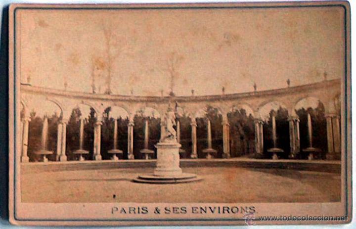 ANTIGUA Y RARA POSTAL DE PARIS, VERSAILLES, ¿ANC. MAISON MARTINET?, SOBRE 1880 (Postales - Postales Extranjero - Europa)