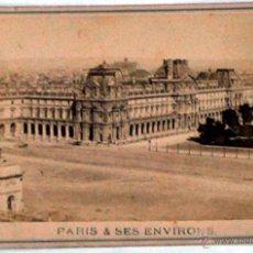 Postales: ANTIGUA Y RARA POSTAL DE PARIS, LOUVRE, ¿ANC. MAISON MARTINET?, SOBRE 1880. Lote 51015983