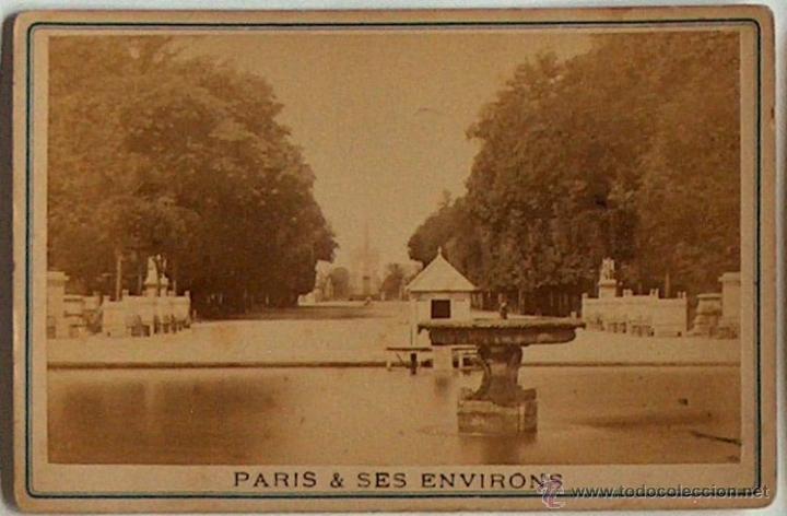 ANTIGUA Y RARA POSTAL DE PARIS, TUILERIES, ¿ANC. MAISON MARTINET?, SOBRE 1880 (Postales - Postales Extranjero - Europa)