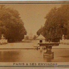 Postales: ANTIGUA Y RARA POSTAL DE PARIS, TUILERIES, ¿ANC. MAISON MARTINET?, SOBRE 1880. Lote 51016035