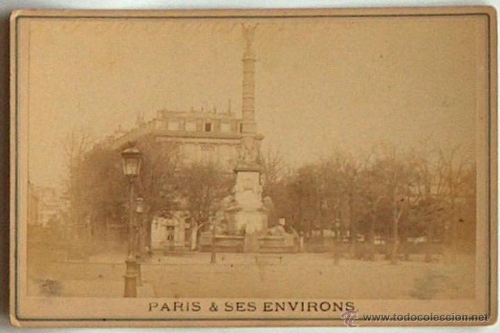 ANTIGUA Y RARA POSTAL DE PARIS, FONTAINE DU CHATELET, ¿ANC. MAISON MARTINET?, SOBRE 1880 (Postales - Postales Extranjero - Europa)