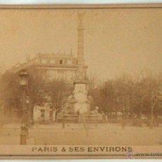 Postales: ANTIGUA Y RARA POSTAL DE PARIS, FONTAINE DU CHATELET, ¿ANC. MAISON MARTINET?, SOBRE 1880. Lote 51016056
