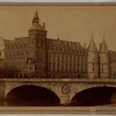 Postales: ANTIGUA Y RARA POSTAL DE PARIS, LA CONCIERGERIE, ¿ANC. MAISON MARTINET?, SOBRE 1880. Lote 51016075