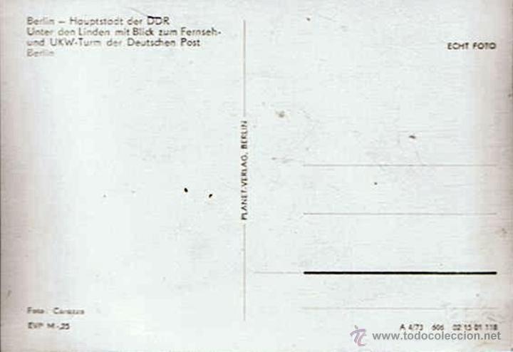 Postales: ANTIGUA POSTAL ¨TURM DER DEUTSCHEN POST BERLIN¨ALEMANIA - Foto 2 - 51073428
