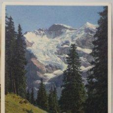 Postales: TARJETA POSTAL, GEBIRGSLANDSCHAFT MIT JUNGFRAU UND SILBERHORN. Lote 51091084
