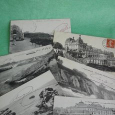 Postales: RARO LOTE ANTIGUA POSTAL BIARRITZ CASINO EGLISE SAINTE EUGENIE CIRCULADAS FRANCIA. Lote 51100932