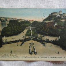 Postales: PHOTOTYPIE MARCEL DELBOY - BORDEAUX - LOURDES - L´ESPLANADE PENDANT PROCESSION SAINT SACRAMENT M.D.. Lote 51120138