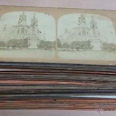 Postales: 70 FOTOGRAFIAS ESTEREOSCOPICAS, ESTEREOSCOPIA ALBUMINA, DE DISTINTAS POBLACIONES DE FRANCIA, PARIS, . Lote 51239074