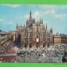 Postales: TARJETA POSTAL. PIAZZA DEL DUOMO. MILANO. SIN CIRCULAR.. Lote 51319530