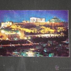 Postales: ATENAS, ACROPOLIS DE NOCHE.. Lote 51394056
