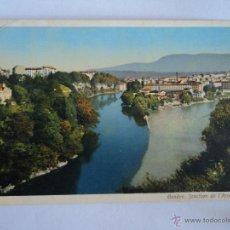 Postales: GENEVE JONCTION DE L´ARVE ET DU RHONE. Lote 51628724