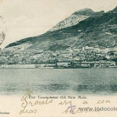 Postales: GIBRALTAR---THE TOWN FROM THE NEW MOLE---1900. Lote 51710639
