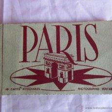 Postales: 10 CARTES DETACHABLES PARIS. VISTAS COLOREADAS SERIE 1. Lote 51737673