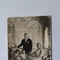 Postales: ANTIGUA POSTAL DE FAMILIA REAL DE MONACO RAINIERO Y GREECE, ESCRITA, FECHADA EN 1959. Lote 52270823