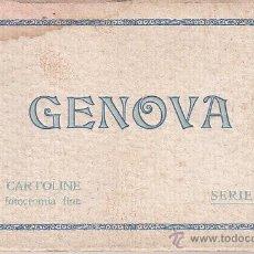 Cartoline: BLOC DE 10 POSTALES DE GÉNOVA - SERIE II TIPO ACORDEÓN - BRUNNER & C. COMO. Lote 52357490