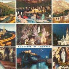 Postales: LOURDES (FRANCIA), DIVERSOS ASPECTOS - ED. A. DOUCET Nº 7 - CIRCULADA. Lote 52359636