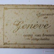Postales: BP-52. SOUVENIR DE GENÈVE. BLOC CON 10 POSTALES. BROMURO. AÑOS 20-30. . Lote 52436308