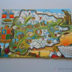 Postales: POSTAL PLAN TURISTICO DE ANDORRA. TDKP6. Lote 52674675