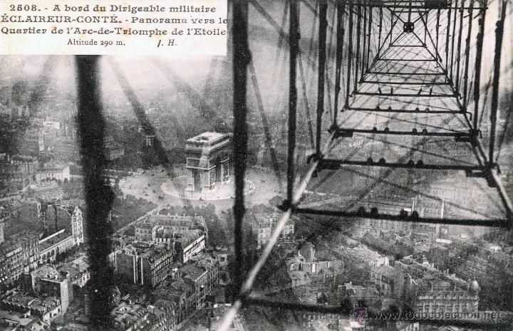 Postales: 6 postales aéreas J Hauser tomadas a bordo del dirigible militar Esclaireur-Conte 1908 - Foto 2 - 52815824