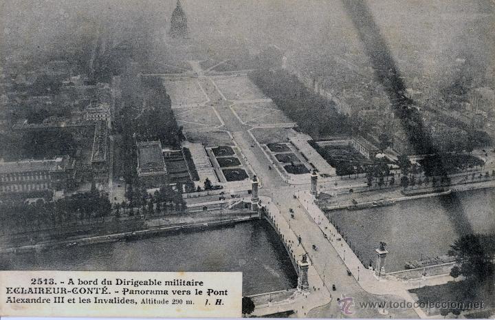 Postales: 6 postales aéreas J Hauser tomadas a bordo del dirigible militar Esclaireur-Conte 1908 - Foto 3 - 52815824