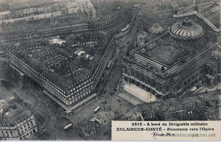 Postales: 6 postales aéreas J Hauser tomadas a bordo del dirigible militar Esclaireur-Conte 1908 - Foto 4 - 52815824