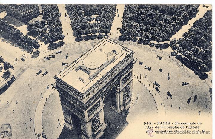 Postales: 6 postales aéreas J Hauser tomadas a bordo del dirigible militar Esclaireur-Conte 1908 - Foto 6 - 52815824