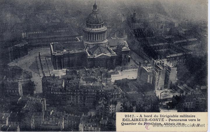 Postales: 6 postales aéreas J Hauser tomadas a bordo del dirigible militar Esclaireur-Conte 1908 - Foto 7 - 52815824