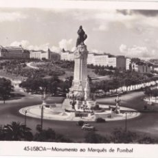 Cartes Postales: P- 3304. POSTAL DE LISBOA. MONUMENTO AO MARQUES DE POMBAL. Nº 45. DULIA.. Lote 52853476