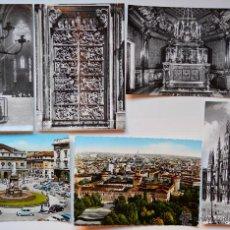 Postales: 6 FOTO POSTALES DE MILANO. MEDIDAS 15 X 10,5 CM APROX. ITALIA. MONUMENTOS. IL DUOMO. SIN CIRCULAR.. Lote 52862894
