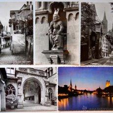 Postales: 5 FOTO POSTALES DE ZÜRICH, SUIZA. MEDIDAS 15 X 10,5 CM APROX.. SIN CIRCULAR.. Lote 52863892