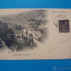 Postales: ANTIGUA POSTAL - VALLÉE SAINT JOSEPH - SALINS LES BAINS- ESCRITA CON SELLO AÑO 1901 ... R - 589. Lote 52926192