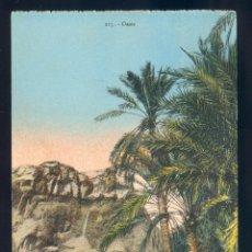 Postales: NUMULITE PB131 POSTAL ANTIGUA OASIS 115 TUNEZ ? TUNISIA PALMERAS COLOREADAS. Lote 53081161