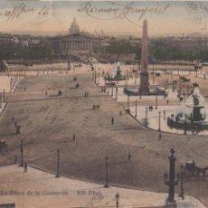Postales: P- 3820. POSTAL DE PARIS. PLACE DE LA CONCORDE ND.. Lote 53084741