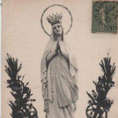 Postales: POSTAL-VIRGEN DE LOURDES-CIRCULADA SIN SELLO. Lote 53150914