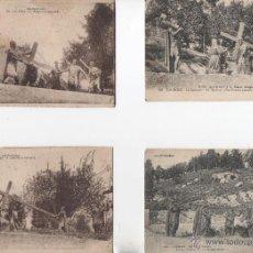 Postales: POSTALES-LOTE DE 4 TARJETAS DE LOURDES VIA CRUCIS. Lote 53156624