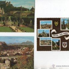 Postales: POSTALES-LOTE DE 3 POSTALES DE AUSTRIA. Lote 53190910