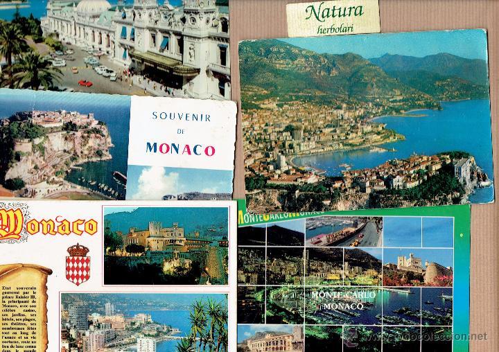 MÓNACO MONTECARLO 5 POSTALES (Postales - Postales Extranjero - Europa)