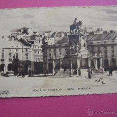 Postales: POSTAL ANTIGUA PORTUGAL PLAZA PRACA DO DE COMERCIO LISBOA 1945 UNION POSTAL UNIVERSAL. Lote 53500078