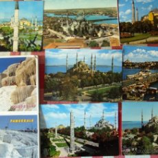 Postales: POSTALES ESTAMBUL TURQUIA TURKEY 9 UNIDADES COLOR. Lote 53538728