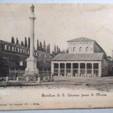 Postales: POSTAL ITALIA , ROMA , BASILICA S. LORENZO , ORIGINAL - P2268. Lote 53781707