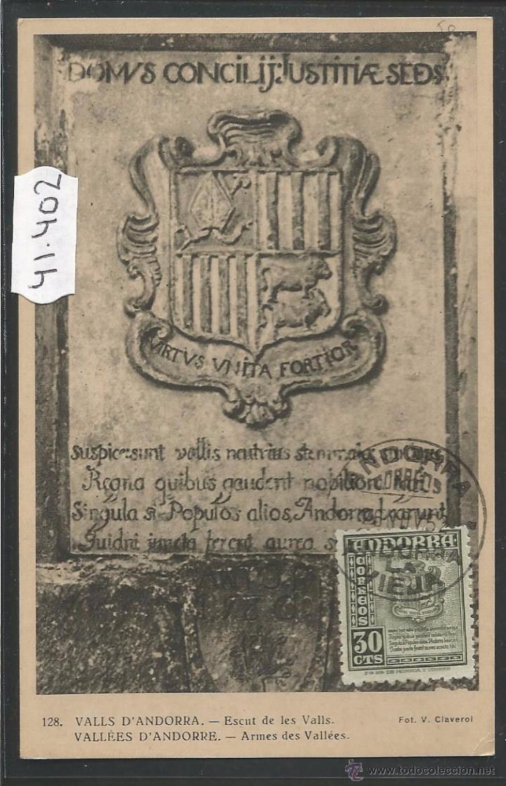 VALLS D'ANDORRA - 128 - ESCUT - FOT· V. CLAVEROL - (41402) (Postales - Postales Extranjero - Europa)